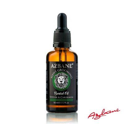 Azbane Moroccan Argan Beard Oil - Vetiver & Cardamom 50ml