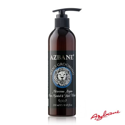 Azbane Face, Beard & Hair Wash - Moroccan Argan Oil 250 ml