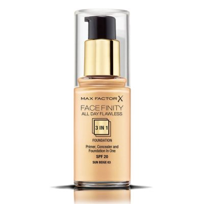Max Factor Facefinity All Day Flawless 3 In 1 Foundation 63 Sun Beige 30ml